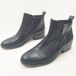 Cole Haan Oak Bootie Black Leather Zippers